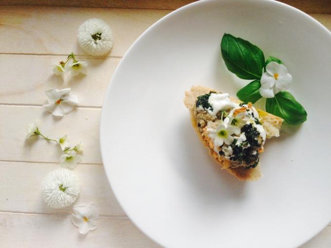 Crostini mit Auberginendip