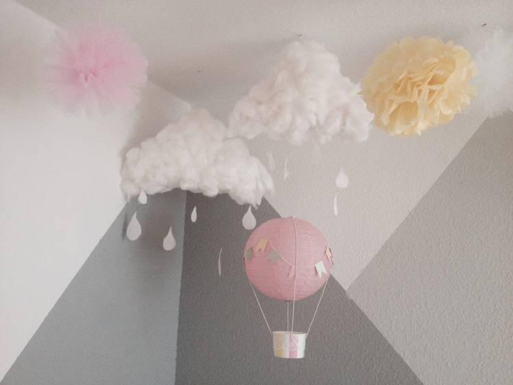 Wattewolken für das Babyzimmer oder Kinderzimmer basteln ° DIY Anleitung