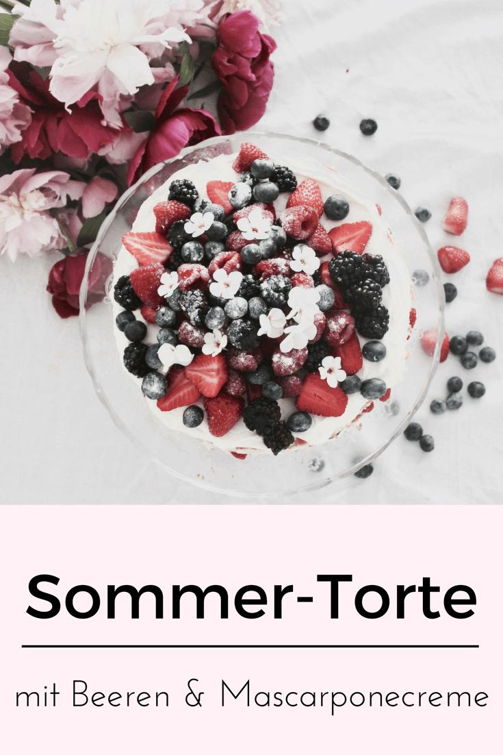 Sommer: Rezept für schnelle & einfache Torte mit Beeren & Mascarpone