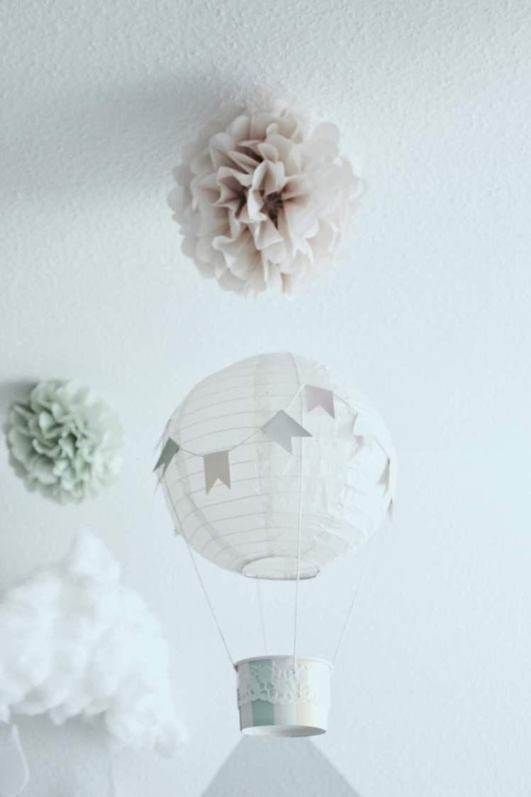 DIY-Deko-Idee ° Heißluftballons für das Kinderzimmer selber machen ...