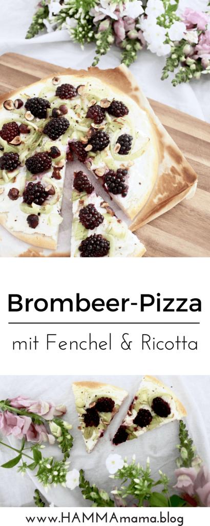DIY-Rezept: Brombeer-Pizza mit Fenchel und Ricotta selber machen
