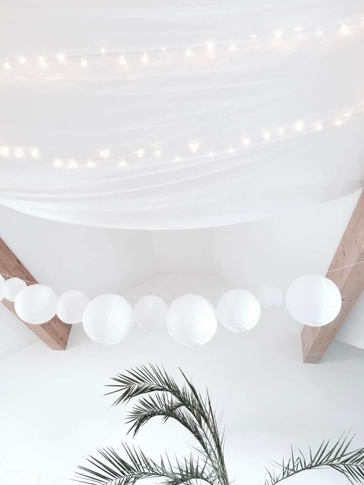 DIY - Selbstgemachte Dekoration aus Lichterketten und Lampions