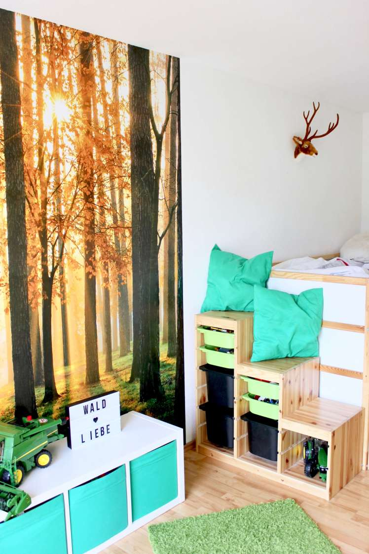 deko ideen f r ein wald kinderzimmer mit viel stauraum hammamama. Black Bedroom Furniture Sets. Home Design Ideas