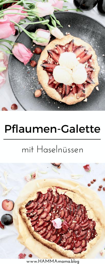 DIY Pflaumen-Galette: Rezept für Kuchen vom Blech, mit Vanilleeis auch als Nachtisch