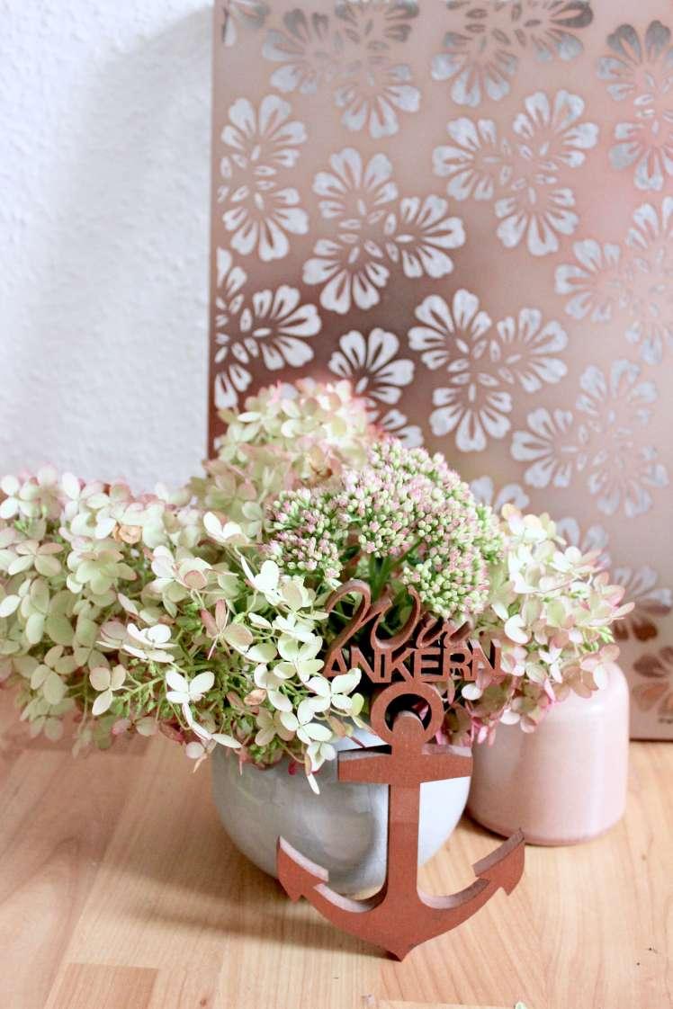 DIY-Blumenstrauß für den Herbst aus Hortensien selber machen