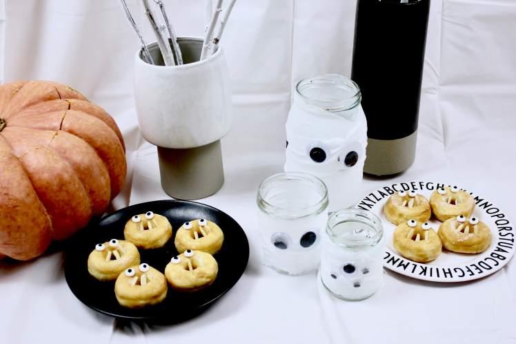 DIY-Ideen für das selber Basteln von einfacher und schneller Halloween-Deko und Essen für Kinder