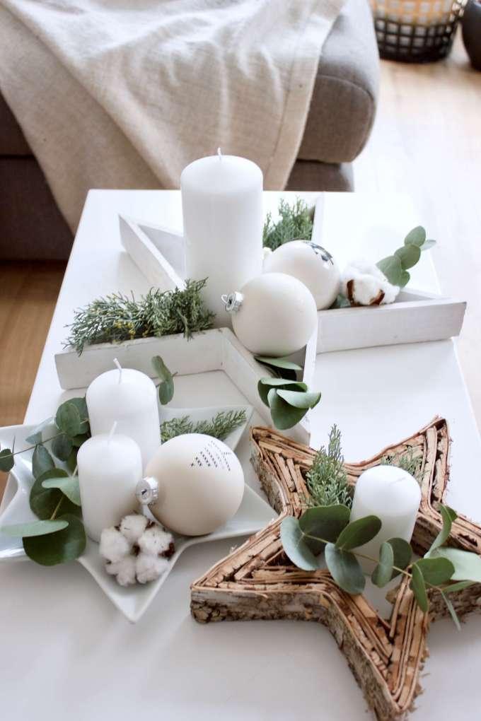 Adventskranz DIY in skandinavisch mit Eukalyptus selber machen