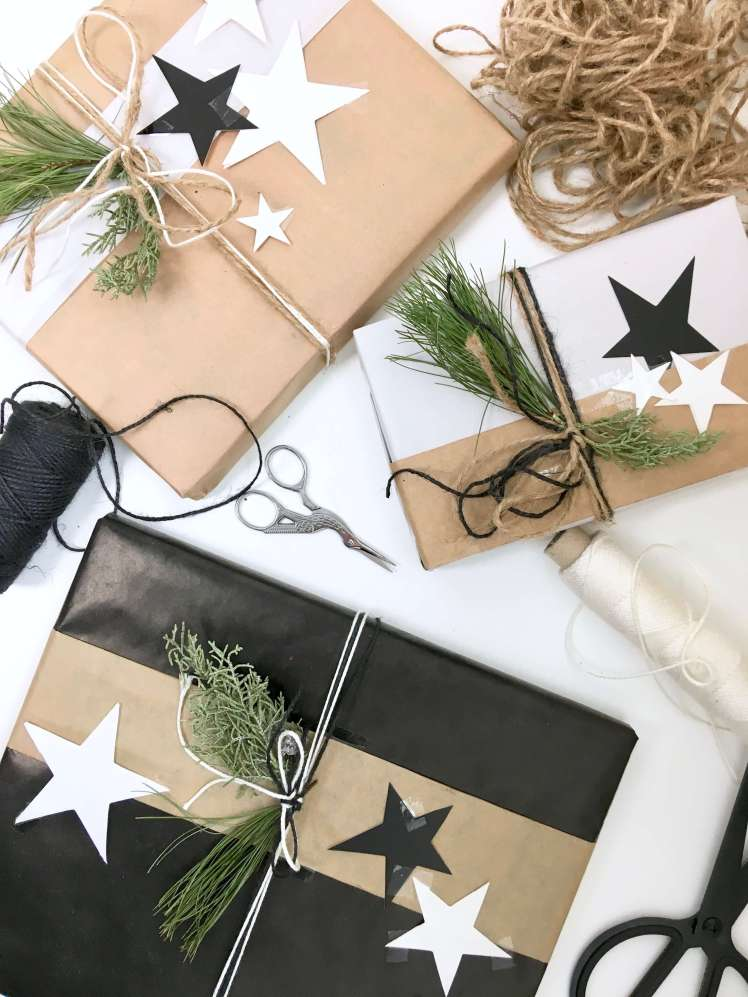 DIY-Ideen: Geschenke kreativ verpacken für Weihnachten mit Packpapier