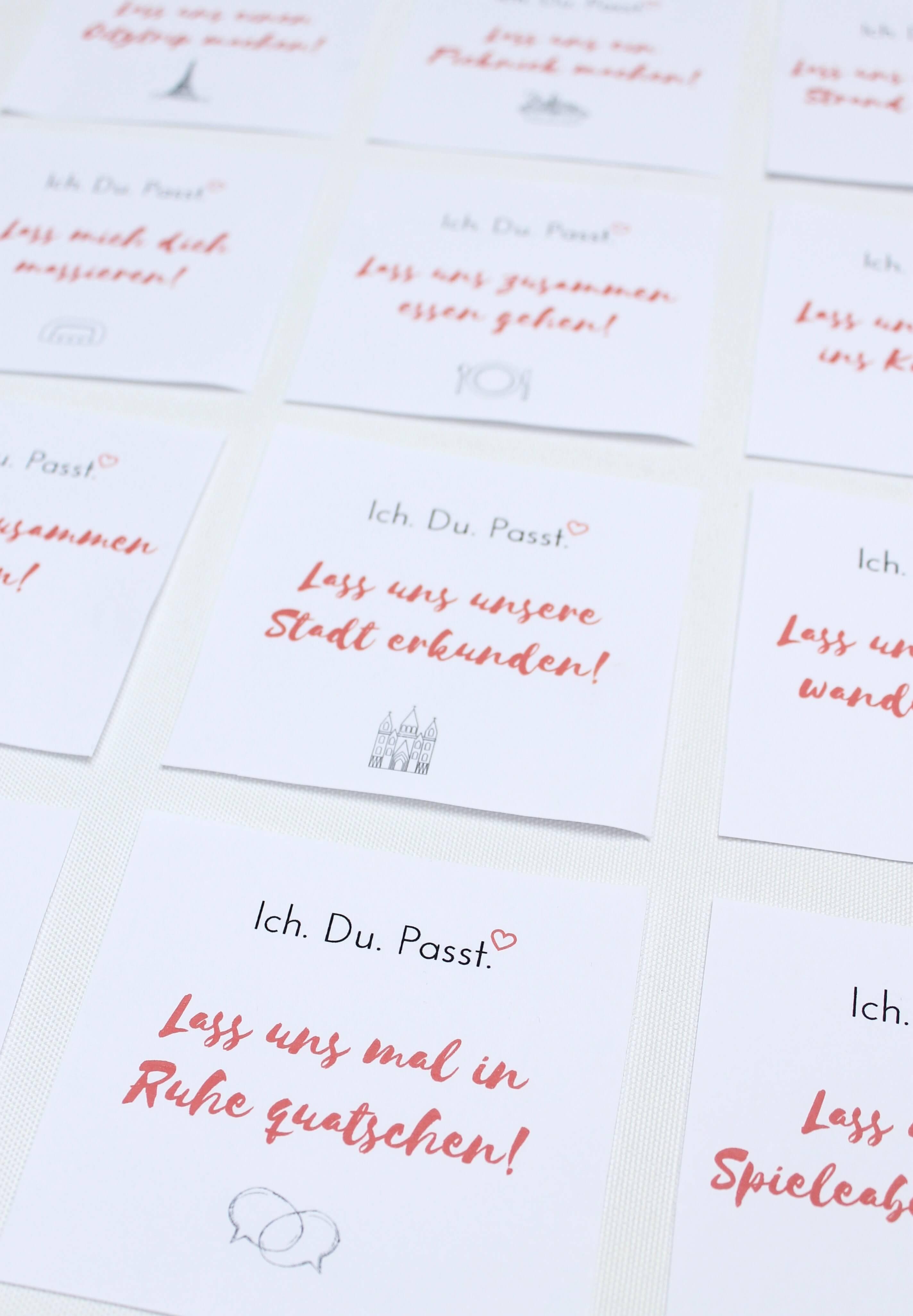DIY Date Kalender Als Geschenk Zum Valentinstag Für Ihn Basteln Mit  Gutschein Freebie