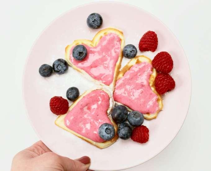 Waffeln zum Valentinstag: Ein leckeres Rezept, ganz einfach