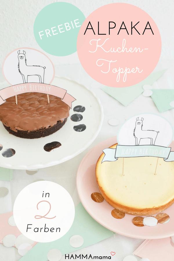 Lama-Alpaka-Freebie Printable Cake Topper für deine nächste Geburtstag-Party_2