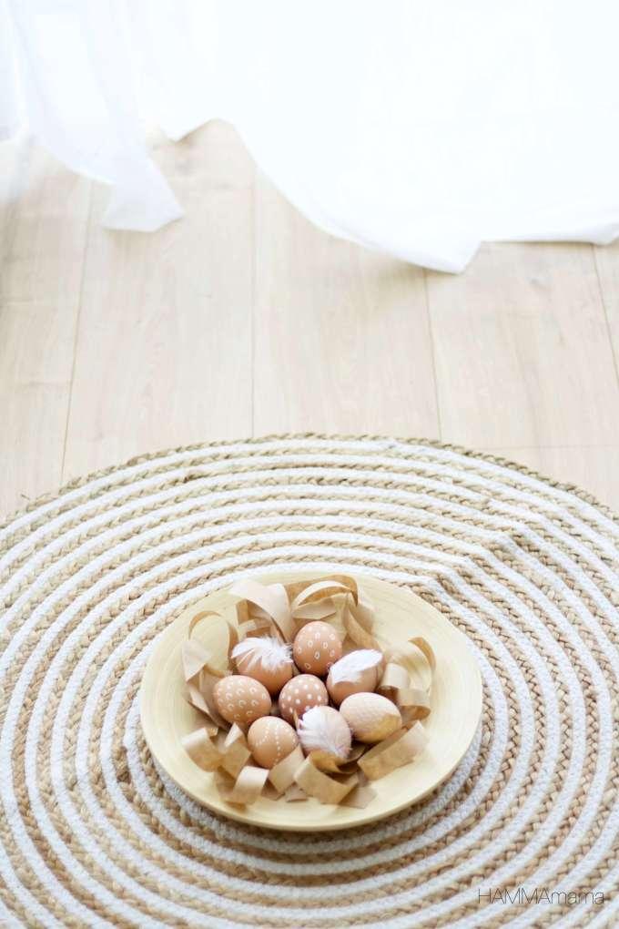 Ostereier skandinavisch und einfach bemalen mit Filzstift