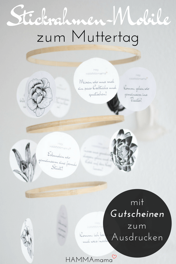 diy stickrahmen mobile als muttertagsgeschenk selber machen mit gutscheinen zum ausdrucken. Black Bedroom Furniture Sets. Home Design Ideas