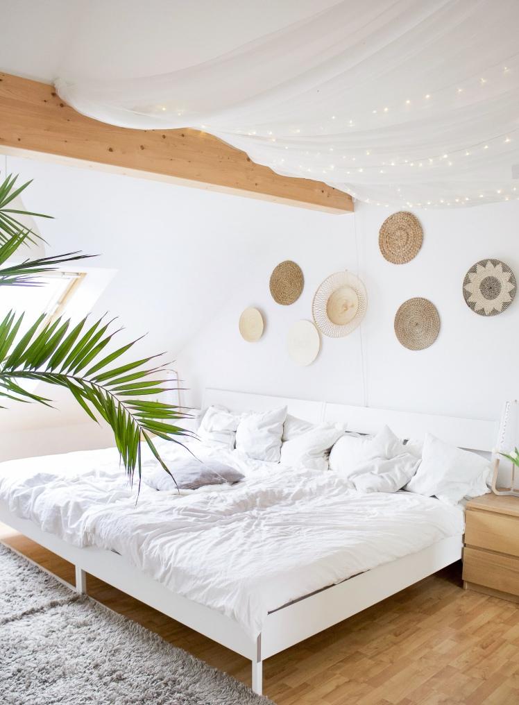 Wandgestaltung Schlafzimmer Dachschräge | Zeit Fur Boho Ethno Ideen Fur Das Schlafzimmer Und Die