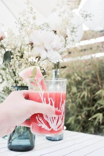 Wassermelonen-Limonade mit Minze für den Sommer selber machen