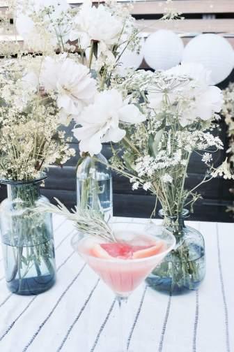 Rezept für Rosmarin-Grapefruit-Cocktail mit Gin für den Sommer