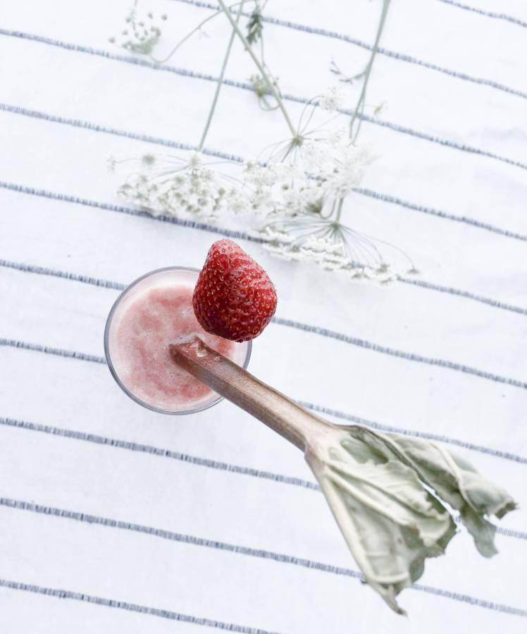 Rhabarber-Erdbeer-Limonade für den Sommer selber machen