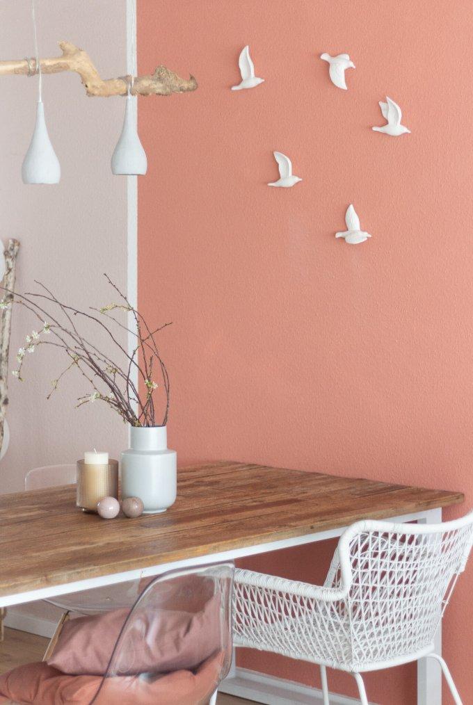 Farbenfroh Wohnen ° Wandfarben im Esszimmer in den Interior Farbtrends 2019