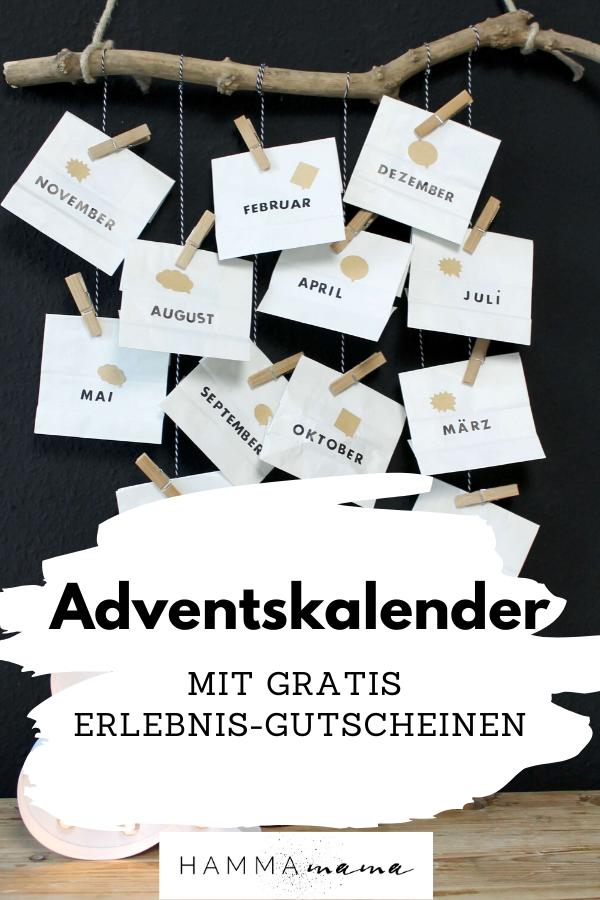 Adventskalender basteln für Männer und Frauen mit Ideen für die Liebe und Gutscheinen zum Drucken - nachhaltig und wiederverwendbar